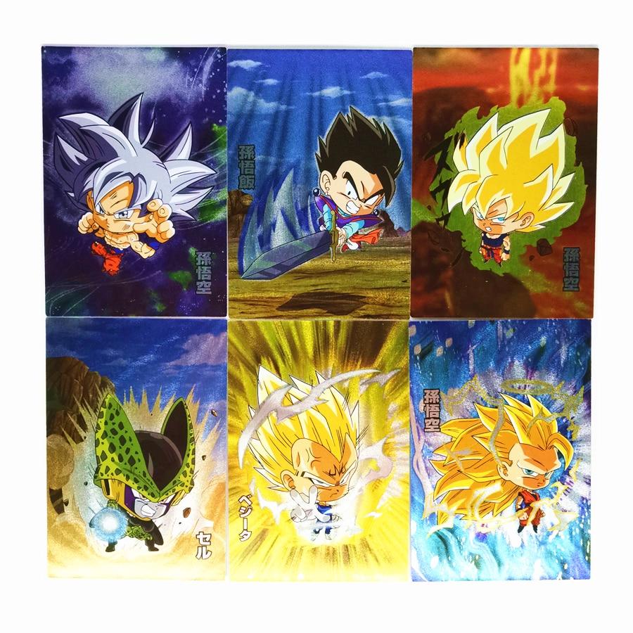 9pcs/set Super Dragon Ball Z Q Heroes Battle Card Ultra Instinct Goku Vegeta Game Collection Cards