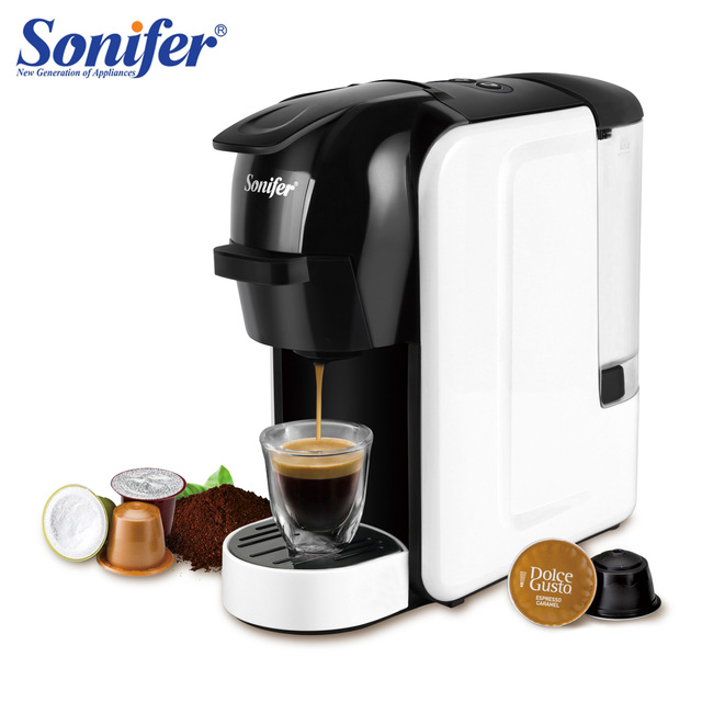 Italian Espresso Electric Coffee Capsule Machine 3 in 1 For Nestle Capsules Kitchen Appliances 19 bar Coffee Machine Sonifer 1