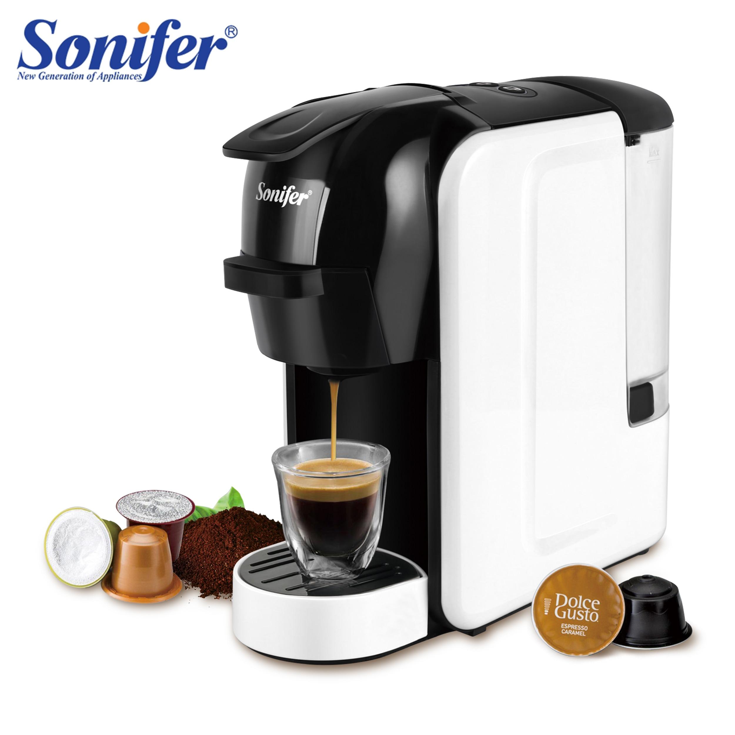 Italian Espresso Electric Coffee Capsule Machine 3 In 1 For Nestle Capsules Kitchen Appliances 19 Bar Coffee Machine Sonifer