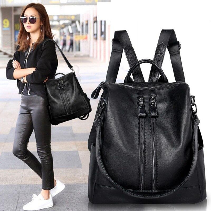 Women Backpack Waterproof Breathable Lightness Bagpack Korean Version Pu Leather Backpacks Wild Luxury Travel Rucksack Female