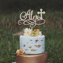 Deus abençoe o topper do bolo, o topper do bolo para batismos, o topper do bolo do baptismo, as primeiras comunidades, e confirmações