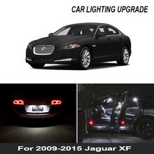 13x blanco luz LED Canbus bombillas Kit de paquete de interiores para 2009, 2010, 2011-2015 Jaguar XF mapa cúpula para maletero o matrícula lámpara