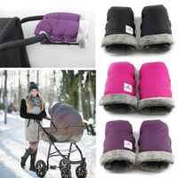 Inverno carrinho de criança luvas venda quente simples portátil respirável macio superfície pushchair mão muff mitten pram acessório à prova dwaterproof água