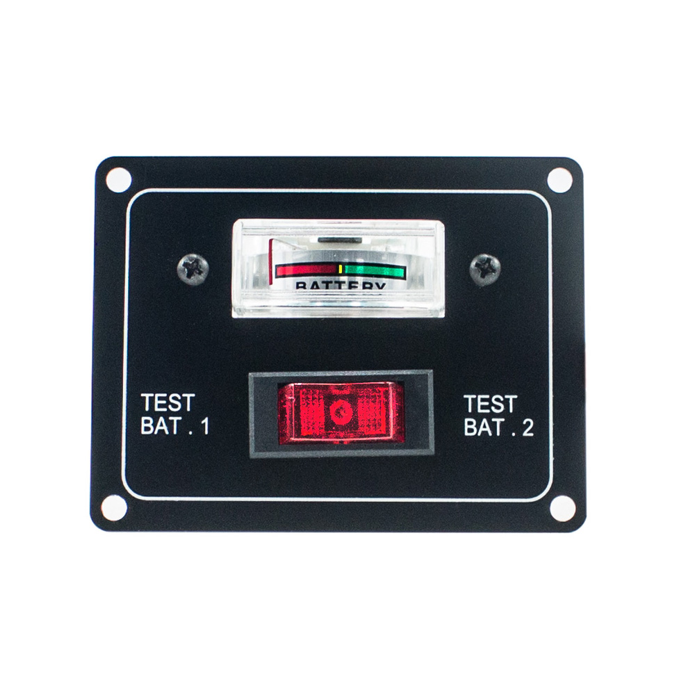 IZTOSS 10A DC 12V Dual Battery Voltage Test Panel with Rocker Switch for RV Boat Marine car accessori image