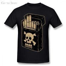 Темный сигарет Футболка мужская череп в готическом стиле отрава