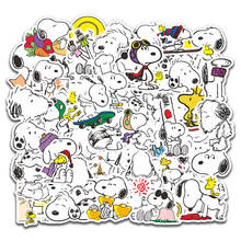 50pcs Cartoon Snoopy Stickers for Laptop Skateboard Luggage Decal Office Toy Appliances Netbook Waterproof Stickers
