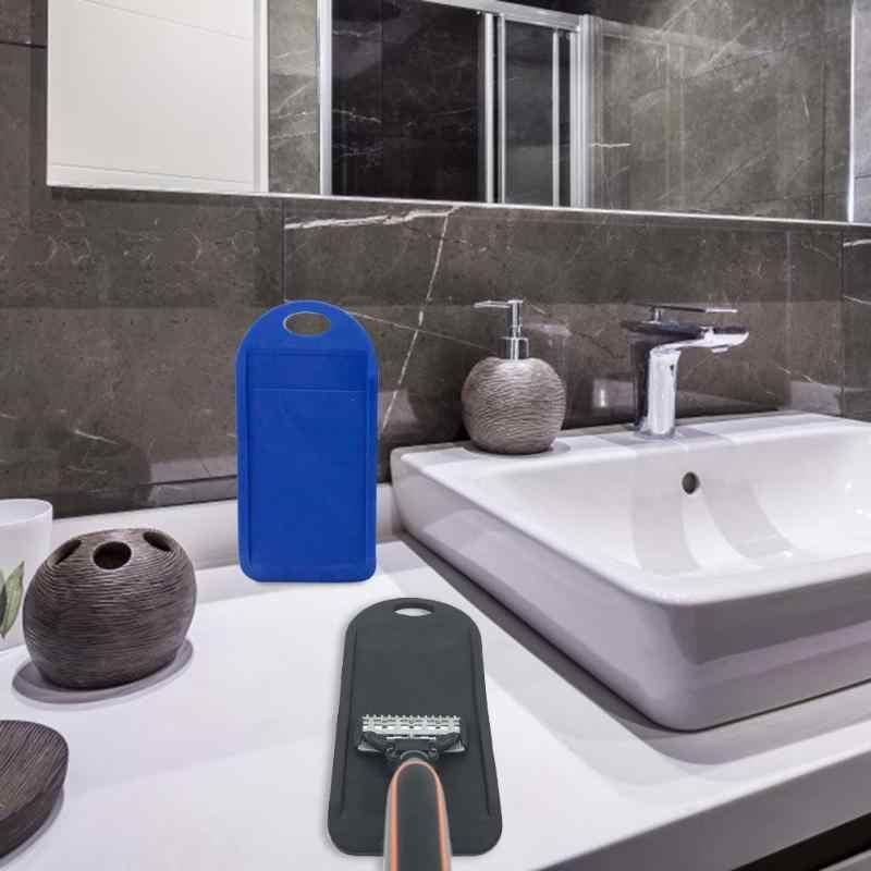 Lâmina de barbear sharpener limpador de sílica gel superfície manual afiar mó seguro durável acessórios moagem