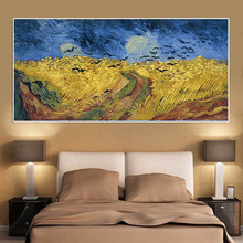 Van Gogh Wheat Field Crows Reproduction Oil Painting on Canvas Posters and Prints Cuadros Wall Art Pictures For Living Room