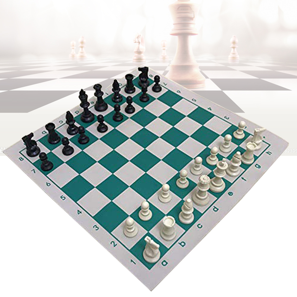 New 34.5x34.5cm/42x42cm PVC Leather Tournament High Quality Educational Chess Board for Children's Educational Games