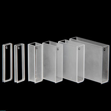 Glass Cuvette For Spectrophotometer Lab Standard Resistant High Temp Acid & Alkali Light Path 1/2/5/20/30/50/100mm