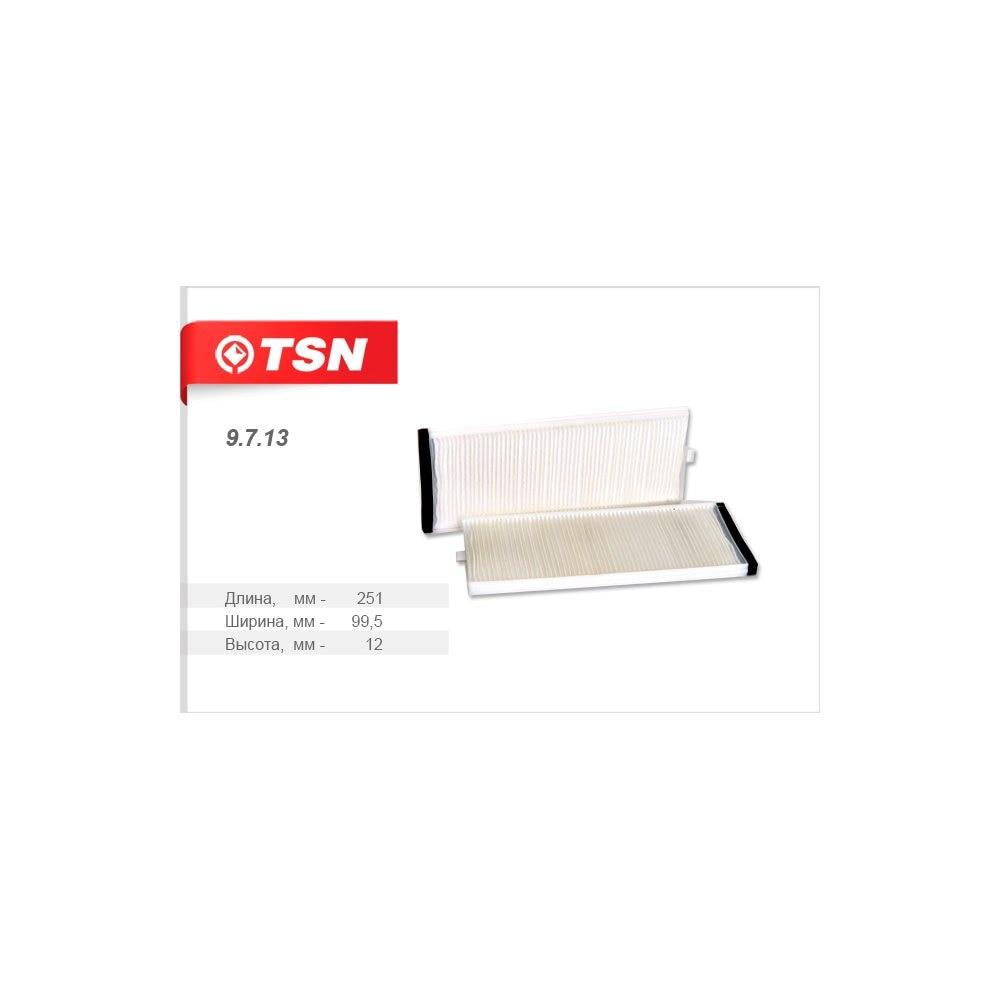 TSN Фильтр салона комплект 2 шт, пылевой, жёсткий каркасHYUNDAI ACCENT II GETZ для авто с 2003г.в. (9713)