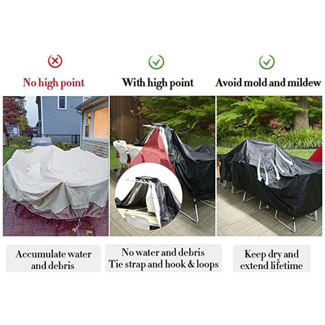72 Sizes Outdoor Patio Garden Black Furniture Waterproof Covers Rain Snow Chair covers Sofa Table Chair Dust Proof Cover 5
