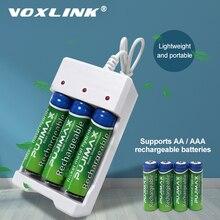 VOXLINK 3 スロット Usb バッテリー充電器 USB ケーブル Aa/AAA 充電式電池充電器リモコンマイクカメラ