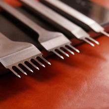 Инструменты для кожевенного ремесла, 4 шт./лот, 3/4/5/6 мм, перфораторы для отверстий в коже, инструмент для перфорации 1 + 2 + 4 + 6 зубцов для кожано...