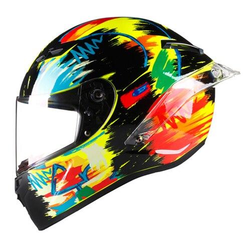Casque De Moto De Course Integral Hors Route Moto Cross Carbone Peinture Surface Kask Casco Moto Ciclista Dot Approuve Aliexpress
