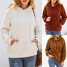 DORVIVON Hoodies Coat Women Sudadera Mujer Hooded Female Sweatshirt Fleece Warm Winter Pockets Hoody Outwear Moletom Clothes
