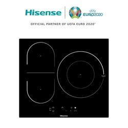 Hisense I6337C индукционная плита, 3 горелки, 7100 Вт, замок безопасности, сенсорное управление, 59 × 6 × 52 см