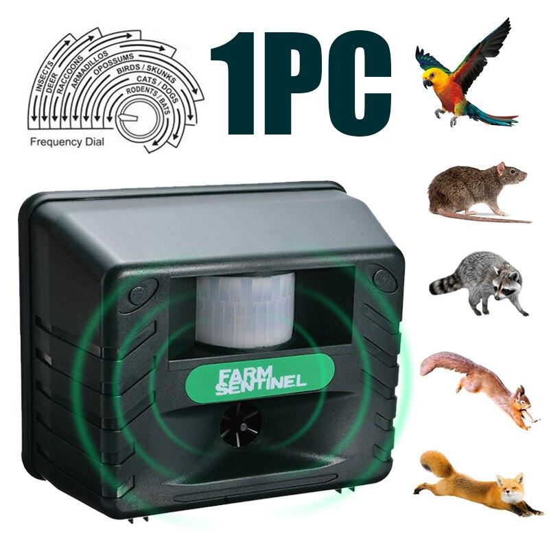 Outdoor Garden Repeller Bird Ultrasonic Repellent Deterrent Seagull Crow Cat Rats Pigeon Scarer Pest Control Repellents