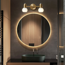 Nordic Led Mirror Makeup Wall Lamp for Bathroom Bedroom Golden  Vanity Wall Mounted Lamp Copper Interior Home Decoration Fixture