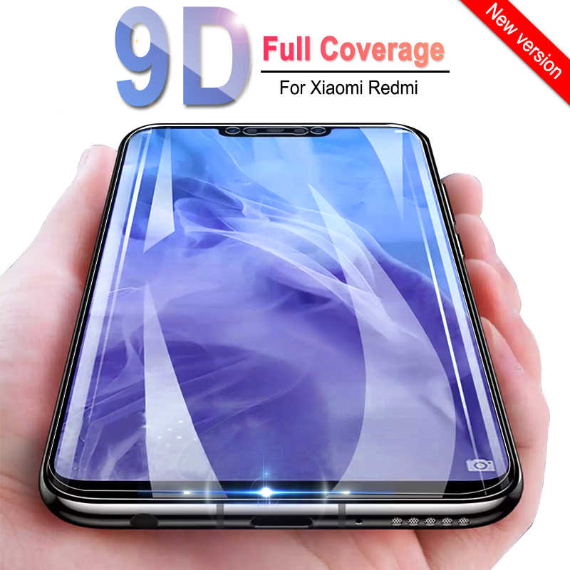 9D フル接着剤カバー強化ガラス Xiaomi Redmi 注 4 4X 行く 6A 6 Pro のスクリーンプロテクター Redmi s2 4A 5 プラス保護フィルム