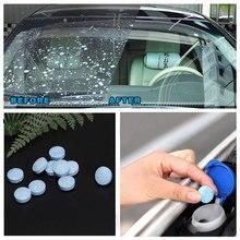 50 200pcs 자동차 유리 세탁기 자동차 앞 유리 유리 세탁기 클리너 알약 소형 발포성 정제 Windows 수리 자동차 액세서리