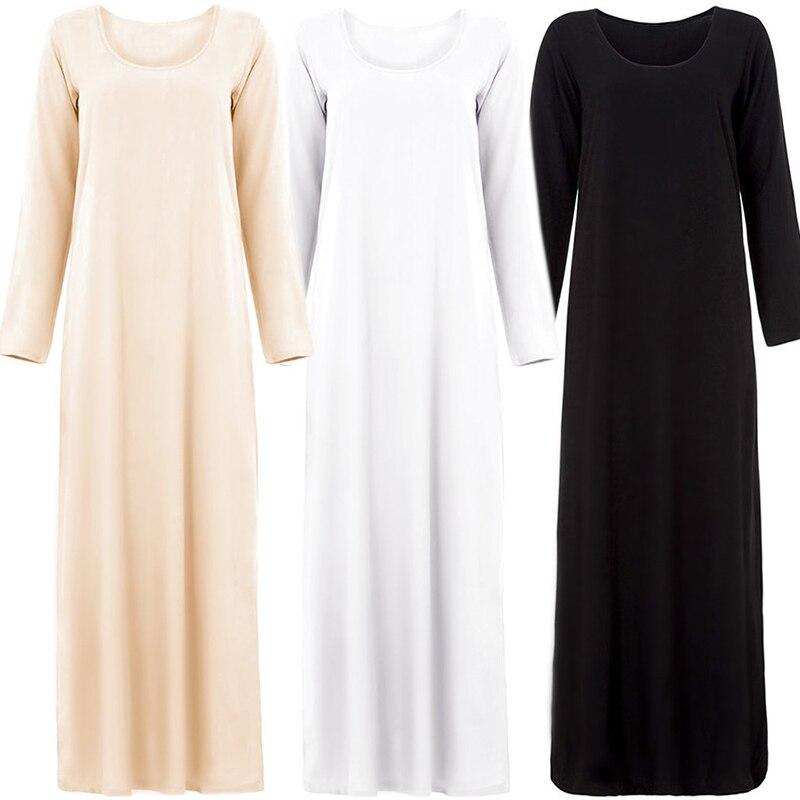 Inside Plain Arabic Abaya Turkey Pakistani Hijab Muslim Dress Vestidos Islamic Clothing Tesettur Elbise Robe Musulmane Longue