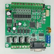 PLC FX2N 10MT STM32 MCU 6 อินพุต 4 เอาท์พุททรานซิสเตอร์ 2 โมดูล 0 10V Built inแบตเตอรี่RTCตัวควบคุมมอเตอร์DC 24V