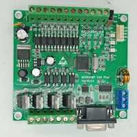 PLC FX2N 10MT STM32 MCU 6 ingresso 4 uscita a transistor 2 AD modulo 0-10v built-in batteria RTC di controllo del motore DC 24V