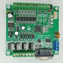 PLC FX2N 10MT STM32 MCU  6 input 4 transistor output 2 AD module 0 10v built in battery RTC motor controller DC 24V