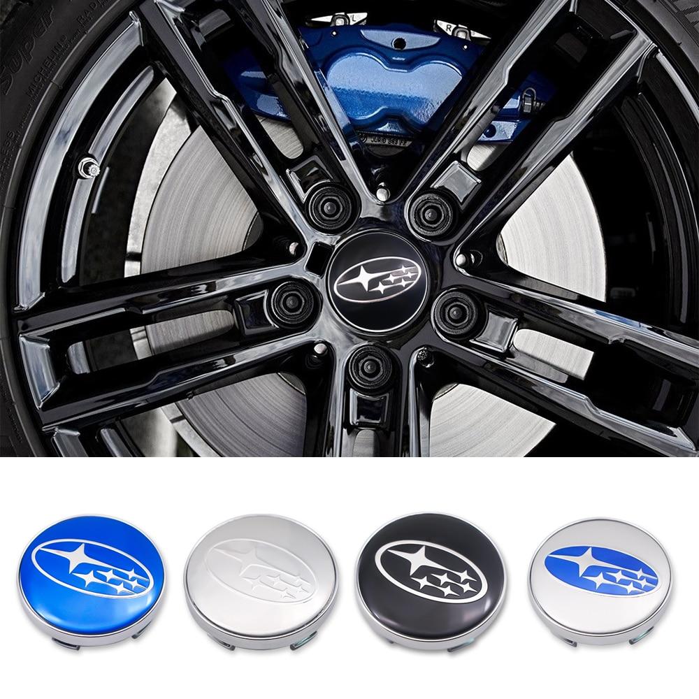 4Pcs/set 60MM Car Wheel Center Hub Caps Sticker Wheel Rim Dust-proof Cover for Subaru Impreza Forester Tribeca XV BRZ Accessory