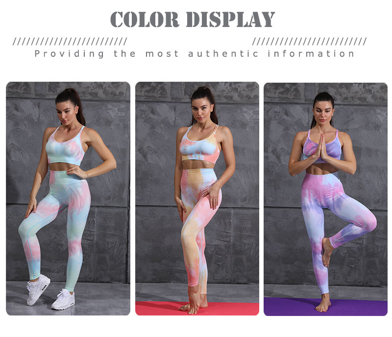 NEW Dyeing Seamless yoga set gym fitness clothing sportswear high waist gym leggings suit sports bra sports suits yoga top 2020