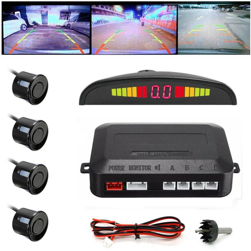 Auto Auto Parktronic LED Parkplatz Sensor für Auto mit 4 Reverse Backup Sensoren Auto Umkehr Radar Monitor Detektor Display System