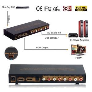 Extractor de Audio 4K 192KHz DAC LPCM HDMI a HDMI 7,1, convertidor de Audio Digital a analógica 7.1Ch DTS, salida RCA multi-canal óptico