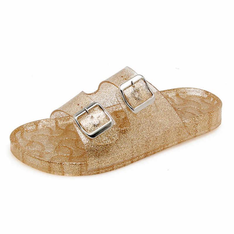 Для женщин новые летние шлепанцы без задника с открытыми пальцами; сандалии-Вьетнамки; Модные женские домашние тапочки Повседневное пляжная обувь женская обувь, сандалии