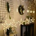 220 В светодиодный светильник-гирлянда с пентаграммой и звездой, светильник для занавесок, сказочный подвесной светильник для свадьбы, дня р...