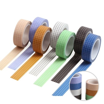 10M Grid Washi Tape Japanese Paper DIY Planner Masking Tape Adhesive Tapes Stickers Decorative Stationery Tapes winzige 15mm 3m washi tape diy planner decorative masking tape stickers scrapbooking bullet journal stickers cute stationery