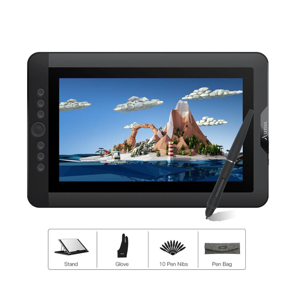 Artisul D13S graphique dessin tablette moniteur 8192 niveaux 13.3 pouces IPS numérique Art graphique tablette avec touches Express et un cadran