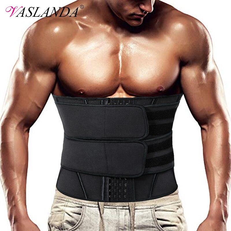 Men Waist Trainer Corsets Neoprene Sweat Fitness Girdle Abdominal Trimmer Belt Weight Loss Fat Burner Lumbar Support Shaper