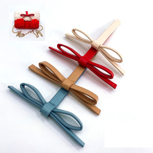 5PCS Lovely PU Leather Bow Decorative Accessories for Knitted Bags DIY Women's Wool Woven Bag Clothing Bowknot  Accessories