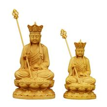 Woodcarving Crafts Solid Wood  King Buddha Statues Tibetan Buddhism Buddhist Gifts