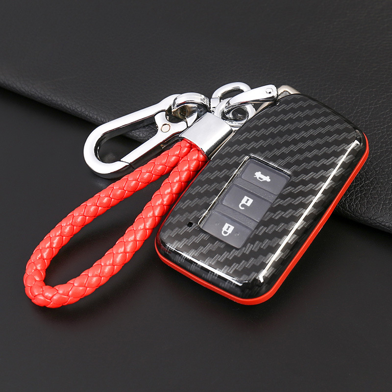2019 New Carbon Fiber Car <font><b>Key</b></font> <font><b>Cases</b></font> For <font><b>Lexus</b></font> ES200 <font><b>Key</b></font> Set 300h 2018 <font><b>RX300</b></font> NX300 NX200 Car <font><b>Key</b></font> <font><b>Case</b></font> Accessories image