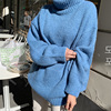 Ailegogo Women Turtlenack Pullovers Casual Korean Style Female Knit Sweater Long Sleeve Thickness Warm Autumn Winter Knitwear 1