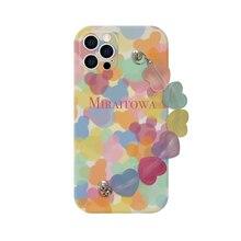 Casetic Color Girly Heart Chain Case For Apple iPhone SE 2020 12 Mini X XR XS Max 11 Pro Max 7 8 6 6S Plus 12 Pro 7P/8P Case