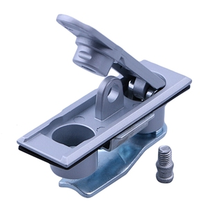Pomo de puerta de aleación de Zinc para caja eléctrica, manija de instalación oculta, cerradura de red de distribución de energía, Hardware de reparación duradero