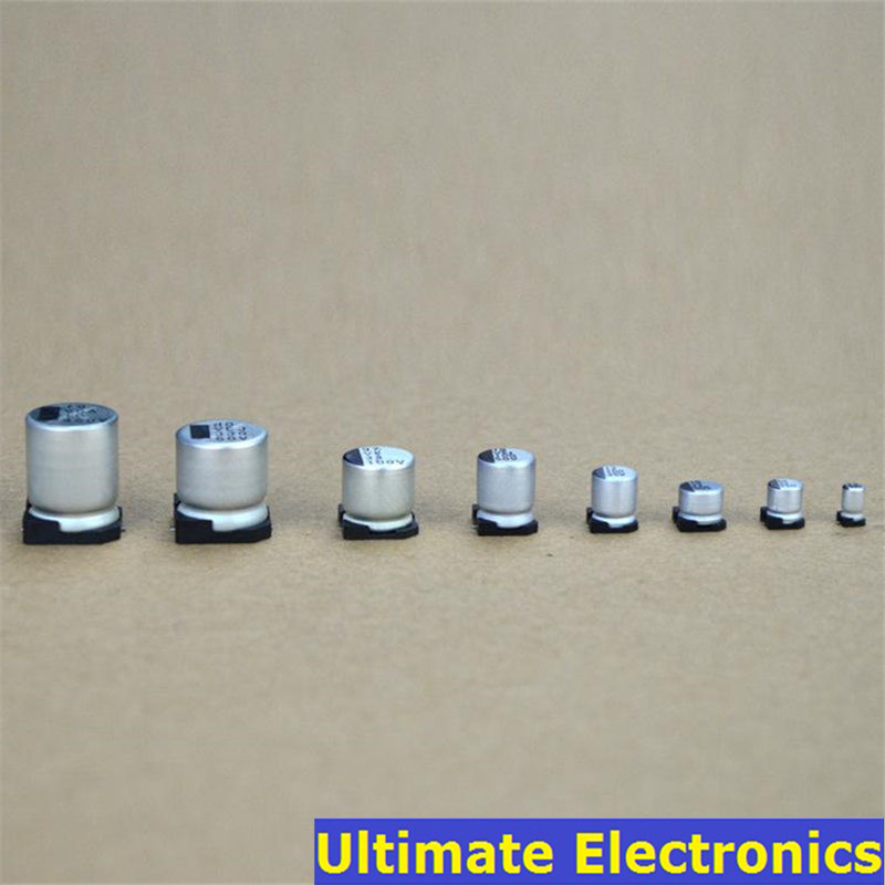 US Stock 10pcs 1500UF 6.3V 10x13mm Solid Aluminum Electrolytic Capacitors