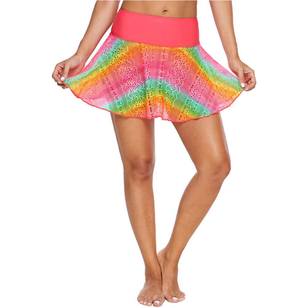 Europe And America Foreign Trade Bikini Swimming Flare Skirt High-waisted Bikini Beach Hot Springs One-Piece Case Divided Skirt