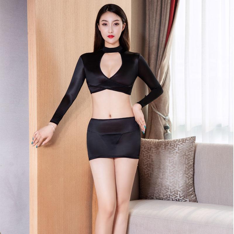 Sexy Oil Shiny OL MINI Skirt Tight Pencil Cute Skirt See Through Micro Mini Skirt Transparent Sexy Skirt Fantasy Erotic Wear F12