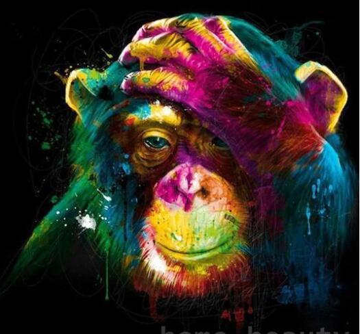 Colorful Orangutan Paint By Numbers For Adults Kits DIY Pictures Children Peinture Numero Schilderen Op Nummer