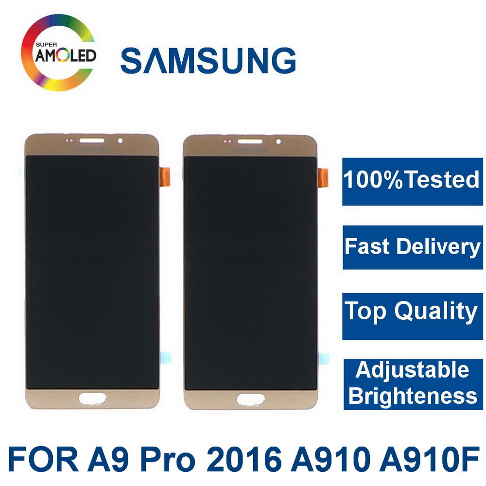 Super AMOLED Suitable for Samsung Galaxy A9 Pro 2016 A910 A910F SM-A910 LCD Touch Display Screen Digitizer Assembly Replacement