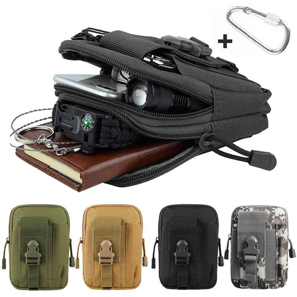 600D Tactical Molle Belt Pouch EDC Waist Bag Military Phone Utility Holster Pocket Pack For Hunting Camping Climbing Shooting